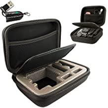 ChargerCity Exclusive GoPro Multi-Compartment Hard Case for Go Pro Hero 1 2 3 3+ Black Silver Platinum Edition Camera. *** Includes free ChargerCity Micro SD Memory Card Reader & Manufacture Direct Replacement Warranty ***