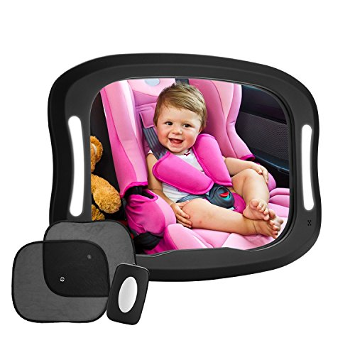 Discover Bargain FITNATE LED Baby Car Mirror 360°adjustable Large and Stable Mirror SHATTERPROOF fo...