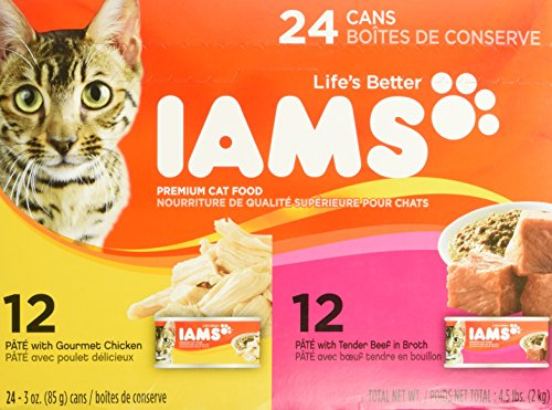 UPC 019014043453, IAMS Pate Adult Wet Cat Food, Variety Pack Chicken & Beef, 3 oz. (Pack of 24)