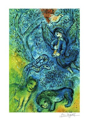 Magic Flute - Poster by Marc Chagall