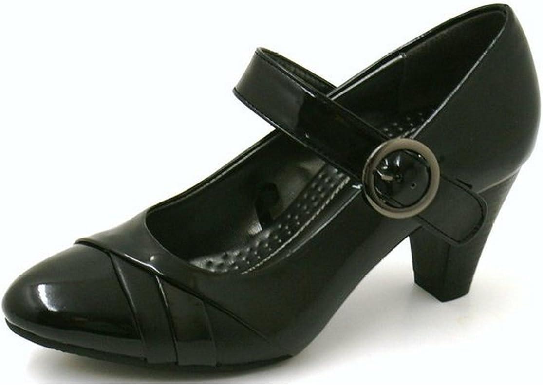 MANFIELD Black Patent Mary Jane Style