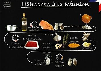Rezept Postkarte Franzosische Kuche Hahnchen A La Reunion Amazon