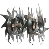 Mantis Tiller Tilling/Cultivating Tines (1 Pair) Fits All Tillers 7222, 7225,7260,7261,7262,7920,7924,7940, (Not…