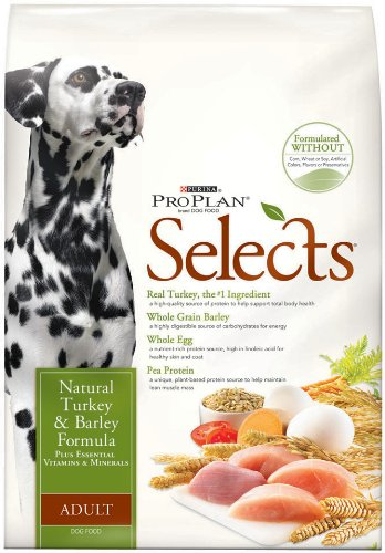 Purina Pro Plan Selects Dry Adult Dog Food, Natural Turkey and Barley Formula, 6-Pound Bag, My Pet Supplies