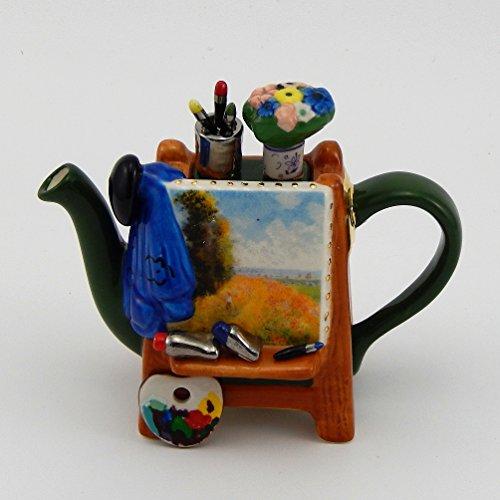Jim Baileys Miniature Novelty Teapot -Monets Easel