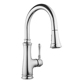 Keewi Kitchen Faucet Chrome Single Handle Pull Down Kitchen Faucet