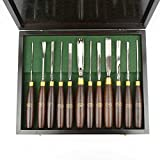 Crown 2242 Woodcarving Set in Wood Box, 12-Piece