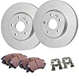 #7: Detroit Axle - Front Disc Brake Rotors & Ceramic Pads w/Clips Hardware Kit for 09-14 Ford Flex Standard Brakes - [11-13 Explorer No Police ] - 10-14 Taurus No Turbo - 10-14 MKT Standard Brakes