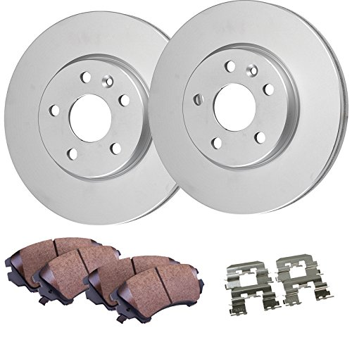 Detroit Axle - Rear Disc Brake Rotors & Ceramic Pads w/Clips Hardware Kit Premium GRADE for 2005-2009 Subaru Legacy No GT and Turbo Models - [2005-2009 Subaru Outback]
