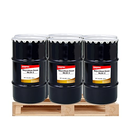 $225 Each- (6) Kegs Moly Extreme Pressure Lithium Grease #2 - 120LB. (16 Gallon) by Sinopec