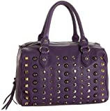 Sorial Studded Satchel,Purple Haze,one size, Bags Central