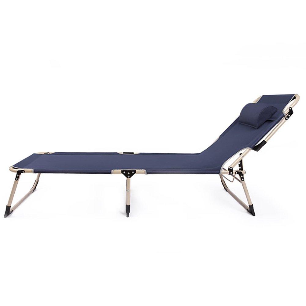 WSSF- Einzelnes faltendes Bett-Eisen-Legierung Verstärken Camping-Zelt-Bett-Büro-Mittagspause Siesta-Bett-im Freienstrand-Lager-Reise-Bett-Gast-Bett, Last 130kg