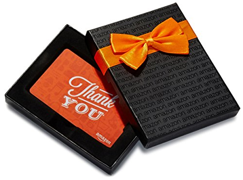 Amazon.ca $100 Gift Card in a Black Gift Box (Thank You Icons Card Design)