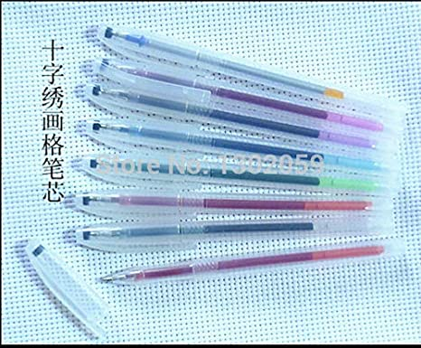 Available 1 Lot=20 Sets Cross Stitch Embroidery Hydrotropic Refill Water Soluble Pen--total 8 Colors Home & Garden Cross-stitch