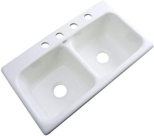 Thermocast Brighton Drop In Acrylic 33x19x9 In 1 Hole Double Bowl Kitchen Sink In White Amazon Com