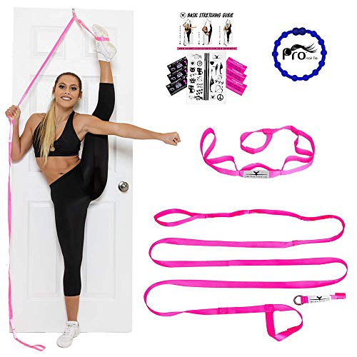 Stunt Stand Door Flexibility & Stretching Leg Strap - Great for Cheer, Dance, Gymnastics or Any Sport! Free How-to-Use Links Included