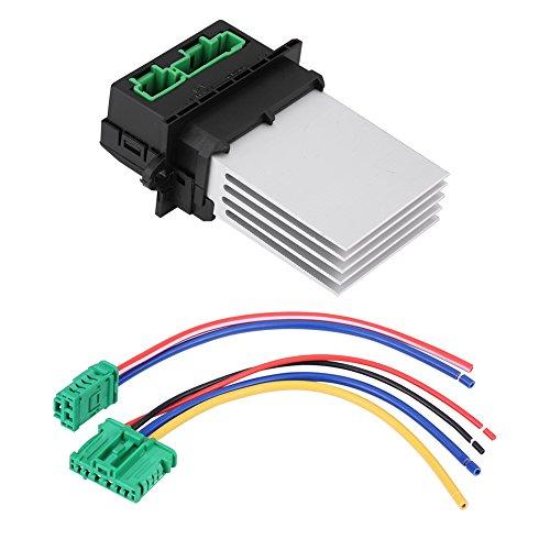 Blower Motor Resistor, Heater Motor Blower Fan Resistor with Wiring Plug Harness 6441L2, 6441.L2, 7701048390, 7701207718, 509355: