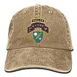 HONGYUDE jacson Mens Quick Dry US Army Retro 2nd Ranger Battalion Classic Adjustable Jeans Caps