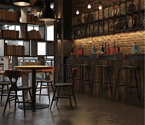 Bois Haute BarTabouret Bar Wynzyjbd En MassifSalle MangerRestaurantChaîne À DessertsCaféSalonDesigncouleurNoir Chaise De 0wONvm8n