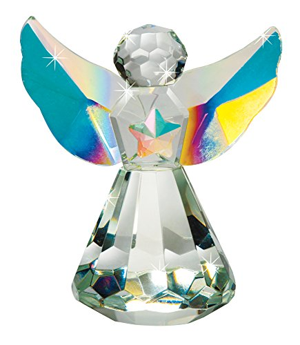 (The Paragon Crystal Angel - Handcrafted, Faceted Tabletop Decoration or Ornament)