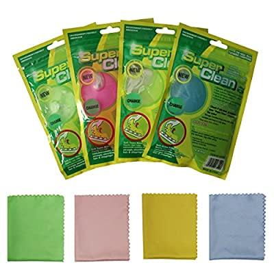 YELAIYEHAO 4 pack Super Soft Sticky Dust Cleaning Gel Gum for Computer Car PC Laptop Keyboard Universal Dust Cleaner with 4 Microfiber Cleaning Cloths