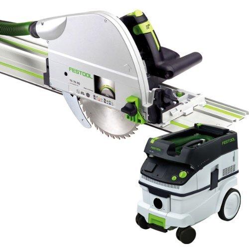 Festool TS 75 EQ Plunge Cut Saw + CT 26 E Dust Extractor ...