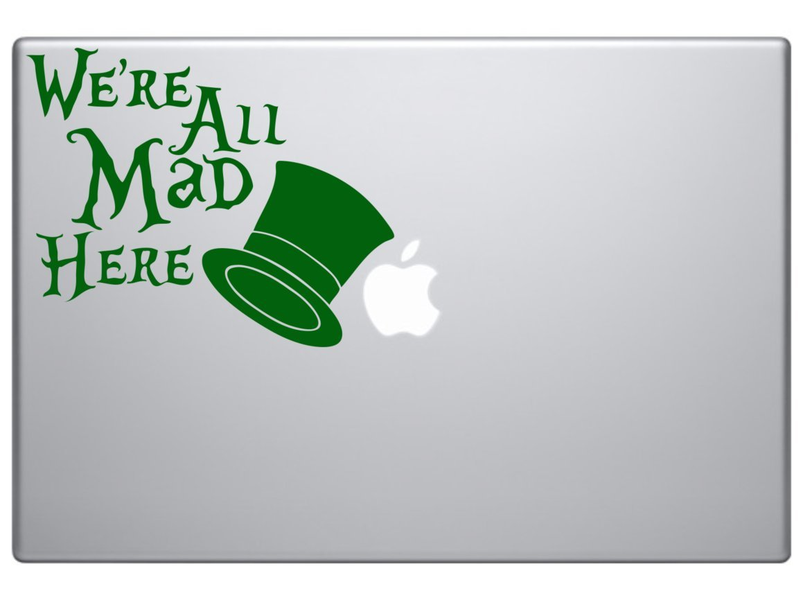 Wonderland All Mad Here Vinyl Car Decal Art Stickers /& Decals External Fitting