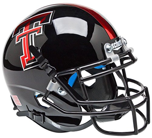 Texas Tech Mini Helmet (TEXAS TECH RED RAIDERS NCAA Schutt XP Authentic MINI Football Helmet (CHROME LOGO/BLACK))