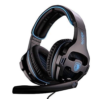 SADES SA810 Gaming Headphone Headset For Computer Gamer 3.5mm Plug Stereo Deep Bass Earphone With Mic By Afunta