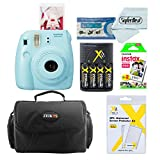 Fujifilm Instax Mini 8 Instant Film Camera With Fujifilm Instax Mini Instant Film Twin Pack (20 Sheets), Compact Bag Case, Batteries and Battery Charger (Blue)