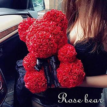 Amazon.com: Oso de rosas, ideal para Navidad, Día de San ...