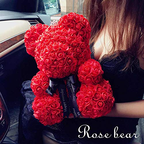 Rose Bear - Thanksgiving Christmas Valentine's Day Mom Anniversary Best Perfect New Unique Heart Thank you Teddy Gift Ideas for Lovers Women Men Wife Husband Him Her Son Daughter Wedding ()