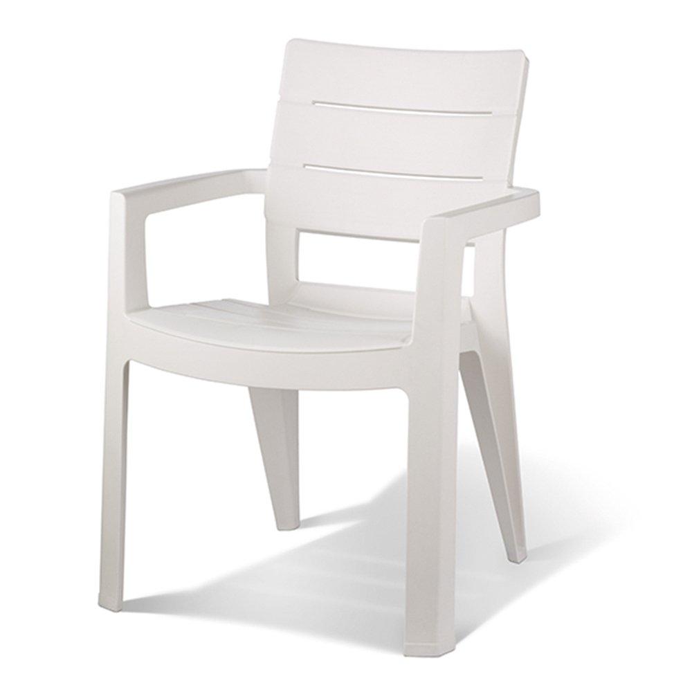 Keter - Silla de jardín exterior Ibiza. Color blanco