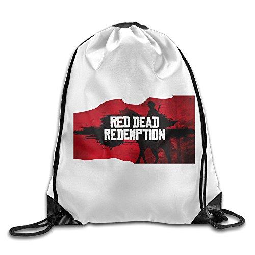 DEMOO Red Dead Redemption Drawstring Backpack / Sack Bag