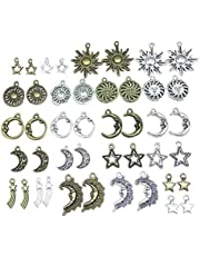 Alysee Tibetan Silver Wholesale Bulk Lots Charms for Jewelry Making Supplies DIY Craft Material Accessories Bracelet Necklace Pendant Earring