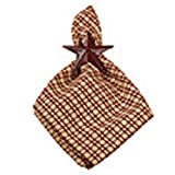 Red and Tan Simply Burgundy Country Check 18 x 18 Inch All Cotton Napkin Set of 4