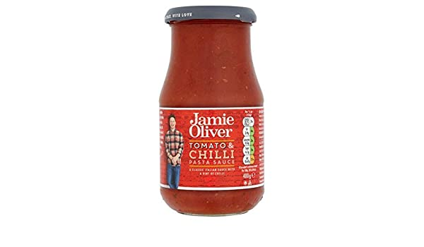 Amazon.com : Jamie Oliver Tomato & Chilli Pasta Sauce - 400g : Grocery & Gourmet Food