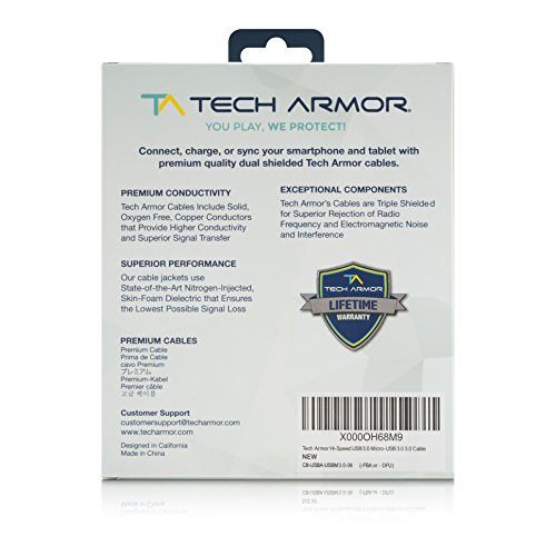 Tech-Armor-Hi-Speed-USB-30-Micro-USB-30-Cable-6FT-USB-A-to-Micro-USB-30-Cable-Sync-and-Charge-Phone-and-More