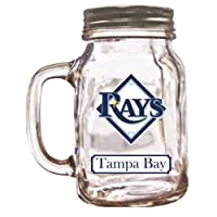 MLB Tampa Bay Rays Duckhouse 20 Ounce Mason Jar
