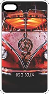 Classic Volkswagen Bus Rusted White Plastic Case for Apple iPhone 4 or iPhone 4s