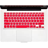 "Kuzy - RED Keyboard Cover Silicone Skin for MacBook Pro 13"" 15"" 17"" (with or w/out Retina Display) iMac and MacBook Air 13"" - Red"