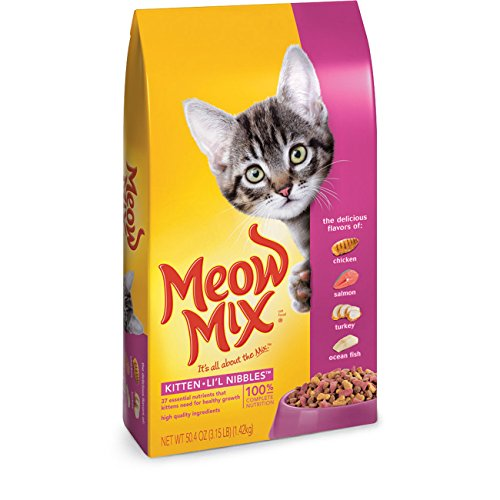 Meow Mix Cat Food, Kitten Li'l Nibbles, 3.15 lb
