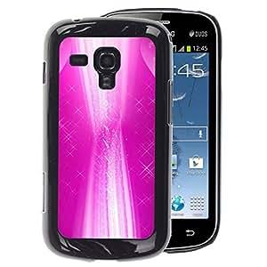 A-type Arte & diseño plástico duro Fundas Cover Cubre Hard Case Cover para Samsung Galaxy S Duos S7562 (White Abstract Stars Vibrant Girl)