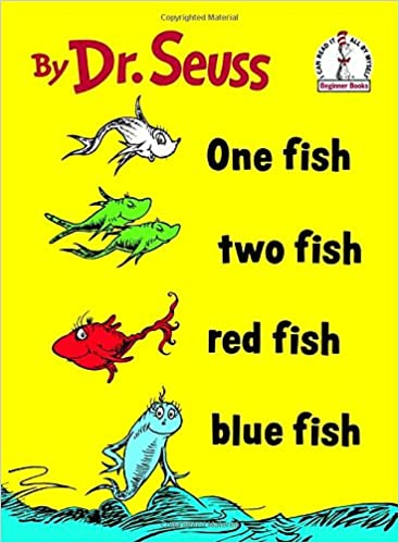 Image result for One Fish Two Fish Red Fish Blue Fish by Dr. Seuss
