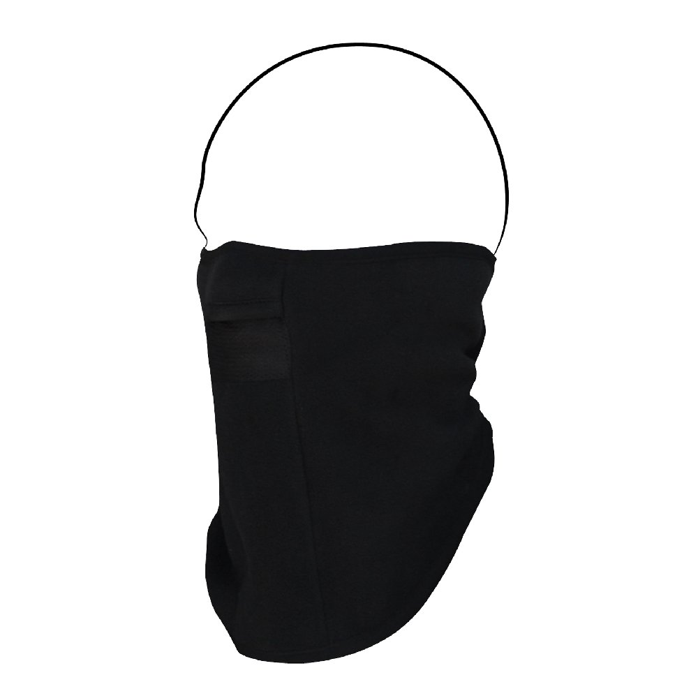 Zanheadgear Microfleece Full Face Mask with Mesh Mouth, Black