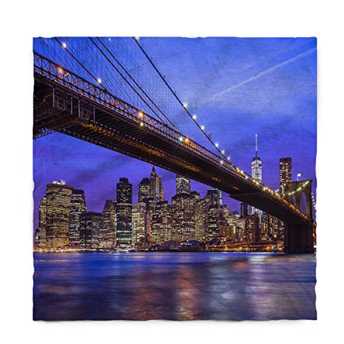 (Fantasy Star Rectangle Polyester Tablecloth, New York City Brooklyn Bridge Tablecloths Machine Washable Table Cover Decorative Table Cloth for Kitchen Dinning Banquet Parties 54 x 87)