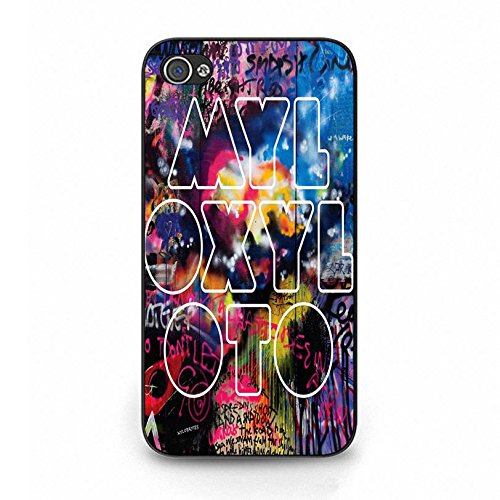 Iphone 4 4s Coldplay Hybrid Cover Shell Fashion Fancy Printed Britpop/Alternative Rock Band Coldplay Phone Case Cover for Iphone 4 4s