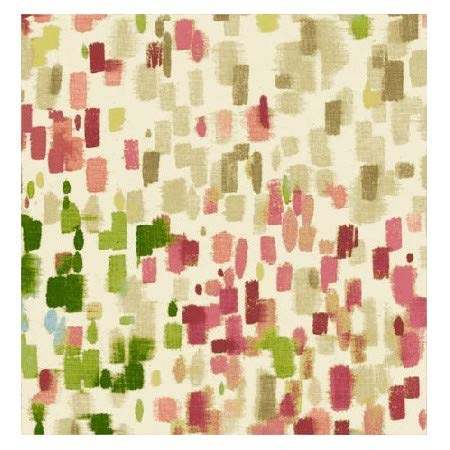 - Waverly Inspirations 100% Cotton Duck Fabric 45'' 180 GSM Squares Coral