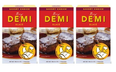 Veal Stew - Savory Choice Beef Demi Glace Reduction Sauce Packet 75gr (pack of 3)