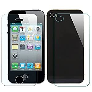 (Pack of 10) MasterStor iPhone 4-4s Screen Protector Glass,Anti-Scratch Clear Tempered Glass Screen Shield Protector with Cleaning Cloth for Apple Iphone 4, Iphone 4s